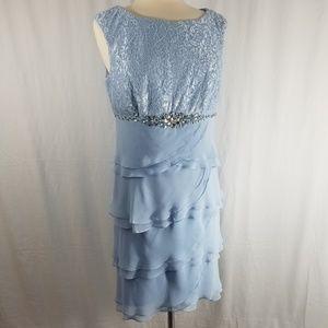 JESSICA HOWARD Light Blue Formal Dress.  Sz 12